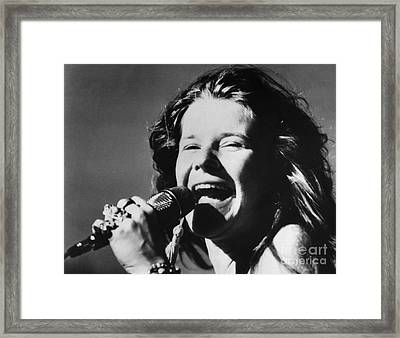 Framed Print featuring the photograph Janis Joplin (1943-1970) by Granger