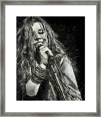 Janis Joplin 1969 Framed Print by Elizabeth Coats