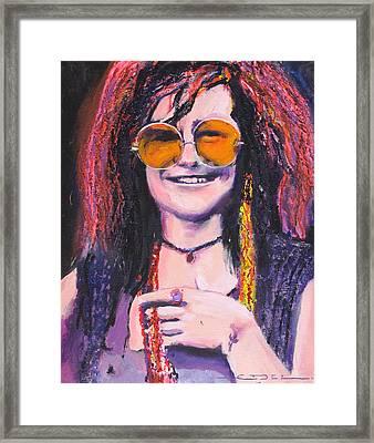 Janis Joplin 2 Framed Print by Eric Dee