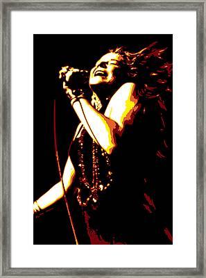 Janis Joplin Framed Print by DB Artist