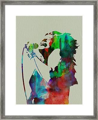 Janis Joplin Framed Print by Naxart Studio