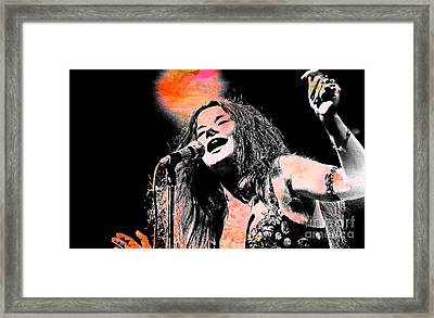Janis Joplin Framed Print by John Malone