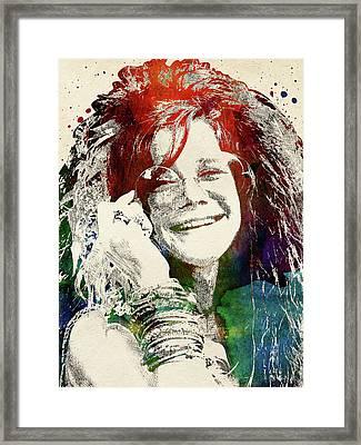 Janis Joplin Framed Print by Mihaela Pater