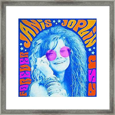 Janis Stamp Painting Framed Print by Dan Sproul