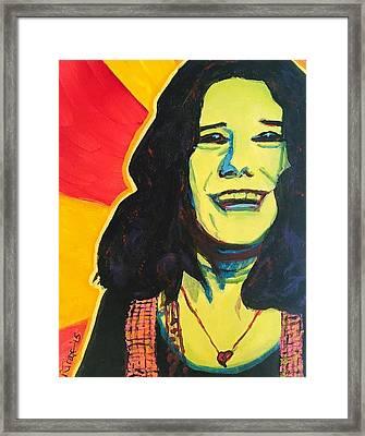 Janis's Heart Framed Print