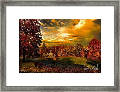 Jan's Farm In Autumn Framed Print