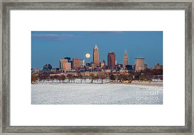 January 23 Full Moon Framed Print by Frank Cramer