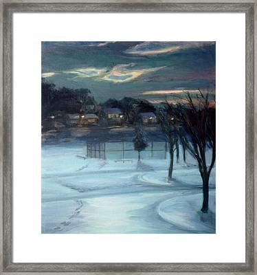 January Ball Field Framed Print
