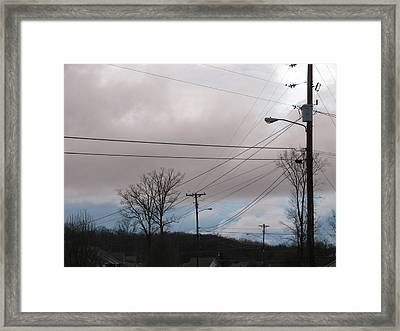 Framed Print featuring the photograph January Blue Sky by Lindie Racz
