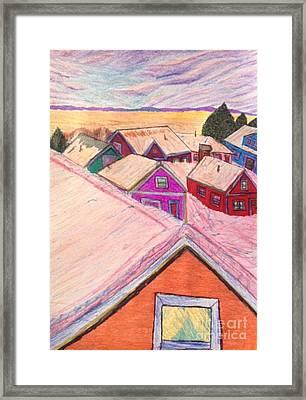 January Colors Framed Print