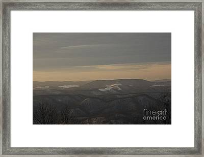 January Evening Framed Print by Randy Bodkins