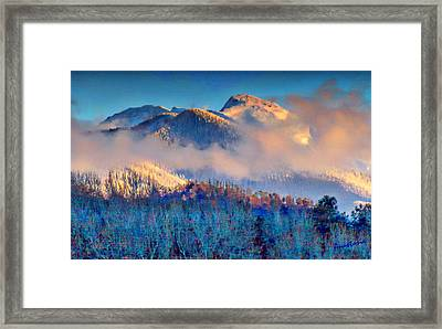 January Evening Truchas Peak Framed Print by Anastasia Savage Ealy