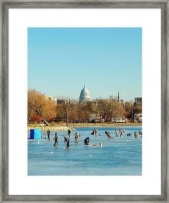 January Ice Framed Print