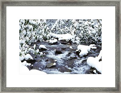 January In West Virginia Framed Print by Thomas R Fletcher