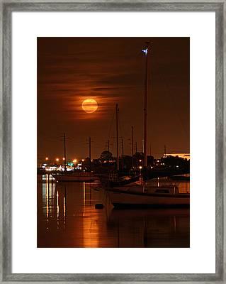 January Moon Framed Print by Ben Prepelka