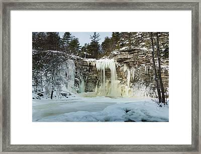 January Morning At Awosting Falls Framed Print