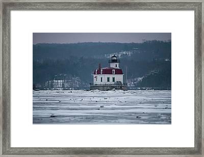 January Morning At Esopus Light Framed Print