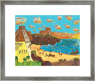 January Pyramid By The Bay Framed Print