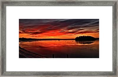 January Sunrise Onset Pier Framed Print