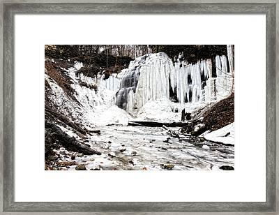 January Thaw At Tiffany Falls Framed Print