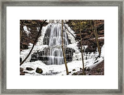 January Thaw Up Close Framed Print