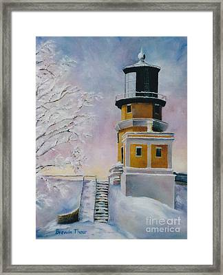 Framed Print featuring the painting Januarys Light by Brenda Thour