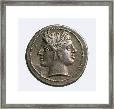 Janus Framed Print by Photo Researchers