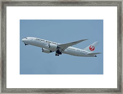 Japan Airlines Boeing 787-8 Ja835j Los Angeles International Airport May 3 2016 Framed Print by Brian Lockett