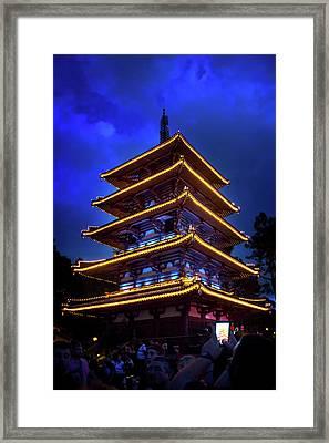Japan At Epcot World Showcase Framed Print by Mark Andrew Thomas