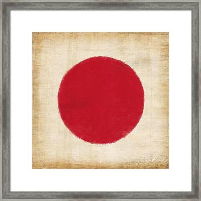 Japan Flag Framed Print by Setsiri Silapasuwanchai
