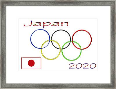 Japan Olympics 2020 Logo 3 Of 3 Framed Print by Tina M Wenger