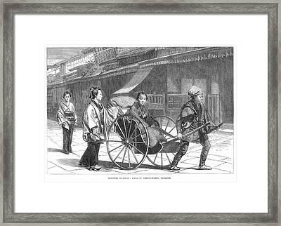 Japan: Rickshaw, 1874 Framed Print by Granger