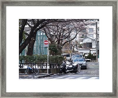 Japan Yoyogi Snow Framed Print by Lee Tinglu
