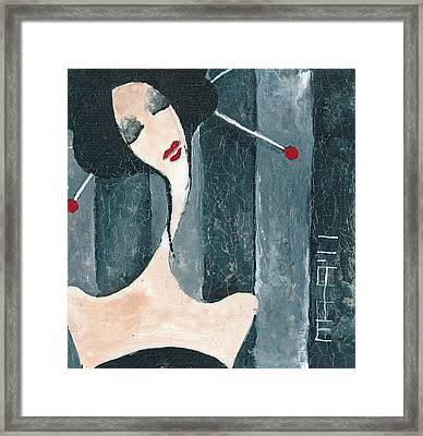 Framed Print featuring the painting Japanese Beauty by Maya Manolova