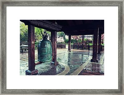 Japanese Bell In Kariya Park Framed Print by Charline Xia