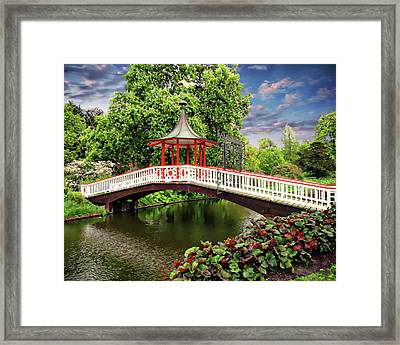 Japanese Bridge Garden Framed Print