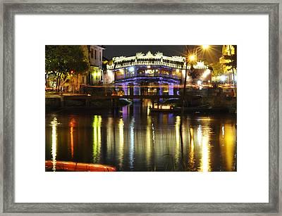 Japanese Covered Bridge Framed Print