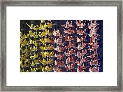 Japanese Cranes Framed Print