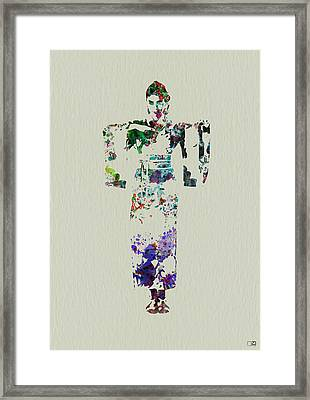 Japanese Dance Framed Print by Naxart Studio