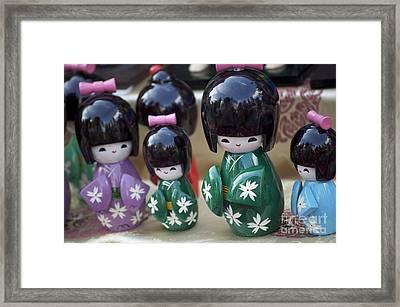 Japanese Dolls Framed Print