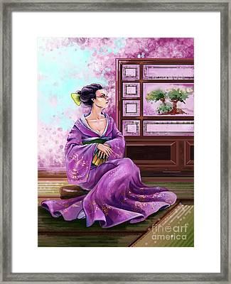 Japanese Fashion Framed Print by Sofia Malkhasian
