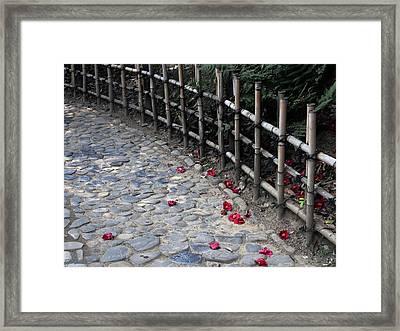 Japanese Fence Framed Print