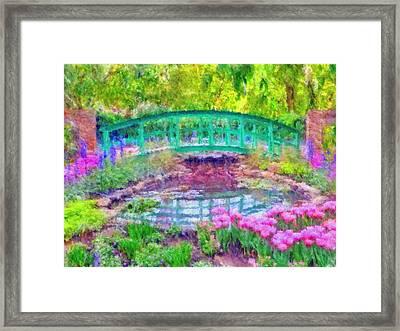 Japanese Footbridge At Phipps Conservatory 2 Framed Print