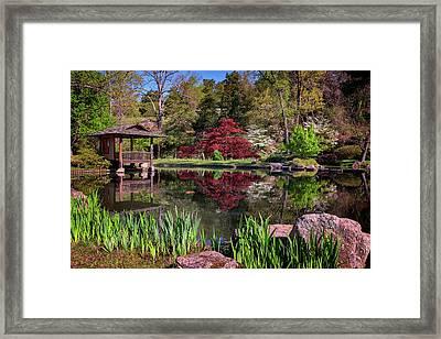 Japanese Garden At Maymont Framed Print by Rick Berk