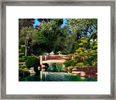 Japanese Garden Bridge Framed Print