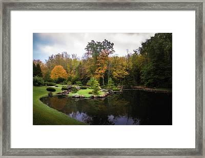 Japanese Garden In Early Autumn Framed Print