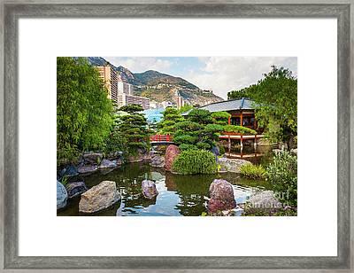 Japanese Garden In Monte Carlo Framed Print