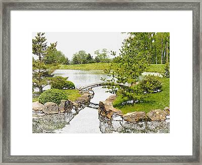 Japanese Garden In Ohio Framed Print by Mindy Newman