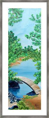 Japanese Garden Framed Print by Kathern Welsh
