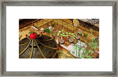 Japanese Garden Framed Print by Peter J Sucy